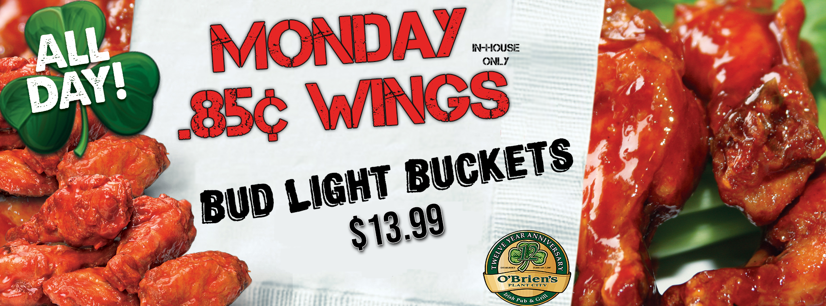 Plant-City-Monday-Specials-Wings-and-Bud-Light-Buckets-Website-Banner